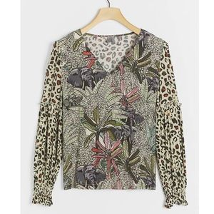 ANTHROPOLOGIE Bl-nk Sibley Mock Neck Blouse Top XS